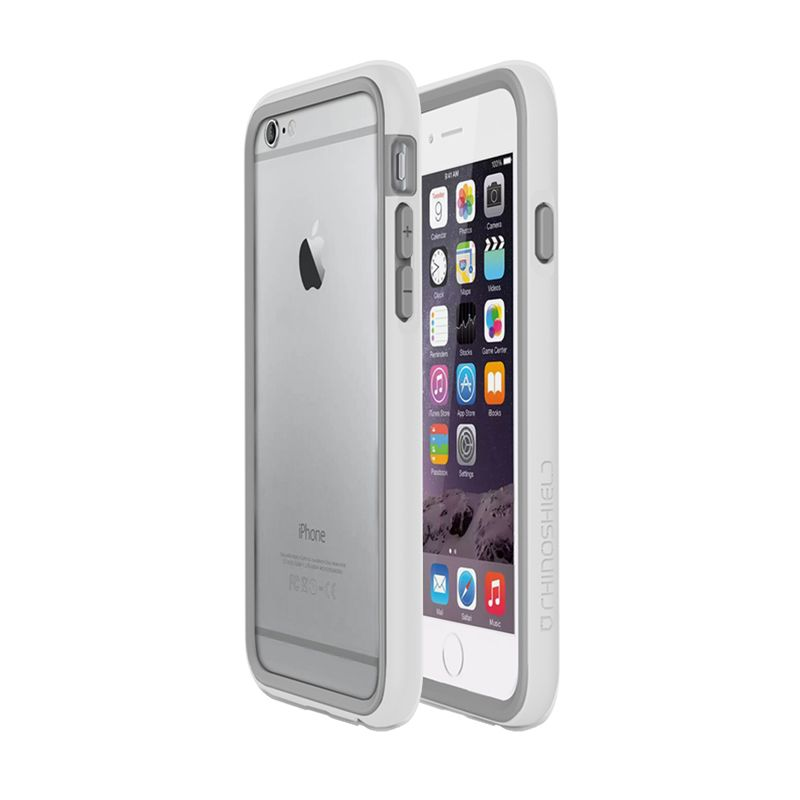 Rhino Shield Crash Guard Bumper Only White Casing for iPhone 6 Plus