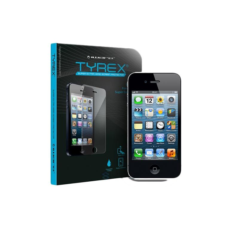 Tyrex Tempered Glass Screen Protector for iPhone 4