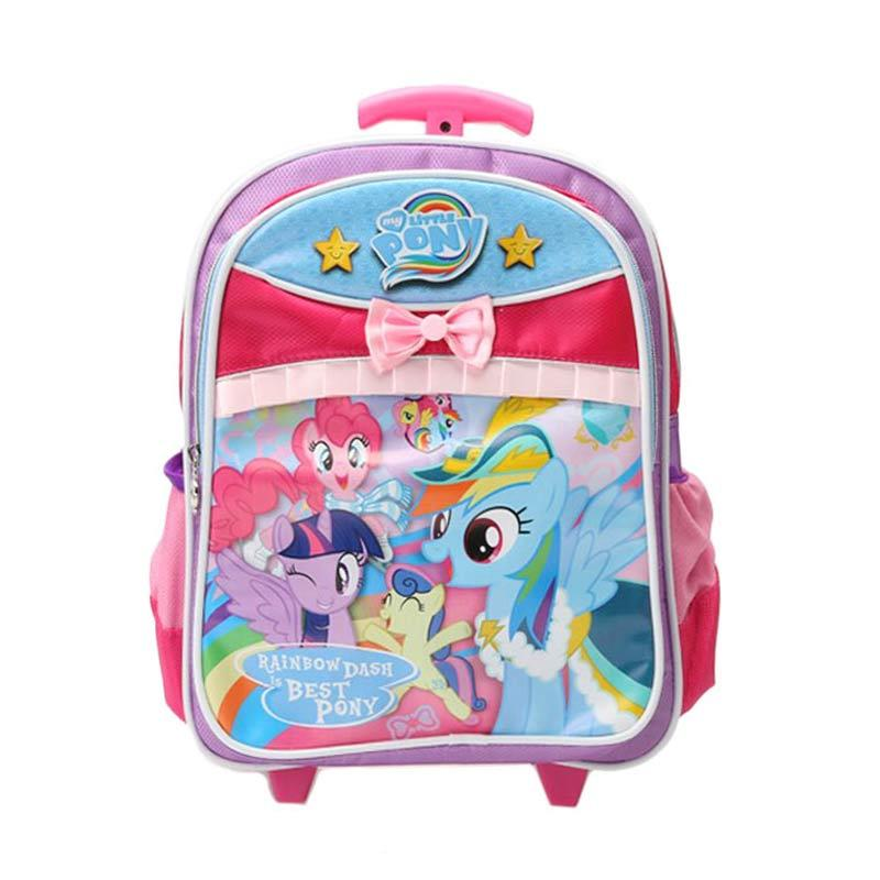 Unico 1LP-6b My Little Pony Small Rainbow Dash is Best Pony (Single Handle) Purple Pink Tas Trolley
