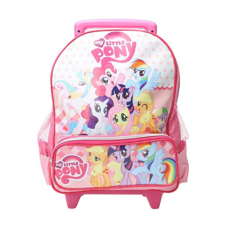 Unico 1LP-4 Trolley My Little Pony Small Pink Polkadot Tas Sekolah Anak