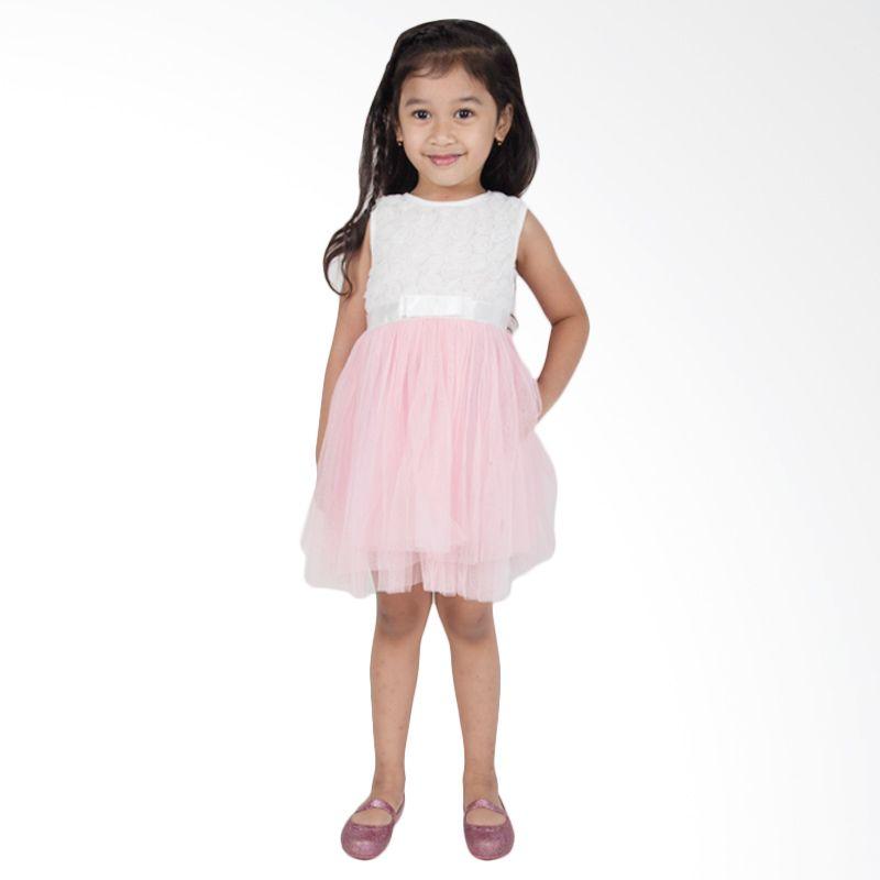 harga Unico Flower Tutu Putih Pink 2176 Dress Anak Blibli.com
