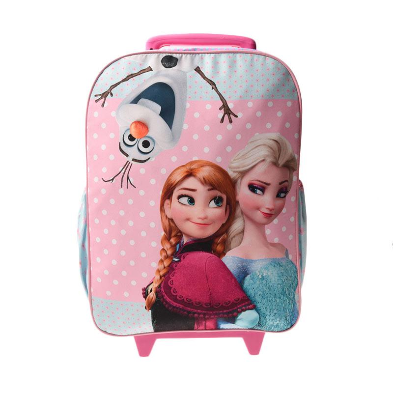 Unico KF20b Large Kanvas Frozen Double Handle Pink Tas Trolley Anak