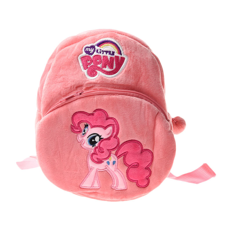 Unico LPP2 2 Resleting Little Pony Pinkie Pie Pink Ransel Anak