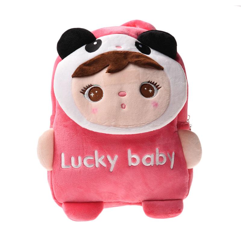 Unico MTDP3 Tutup Depan Lucky Baby Panda Pink Ransel Anak