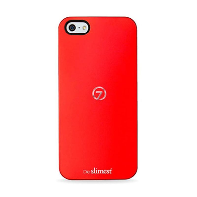 7MM Duo Alu Case for iPhone 5 5S Black Red