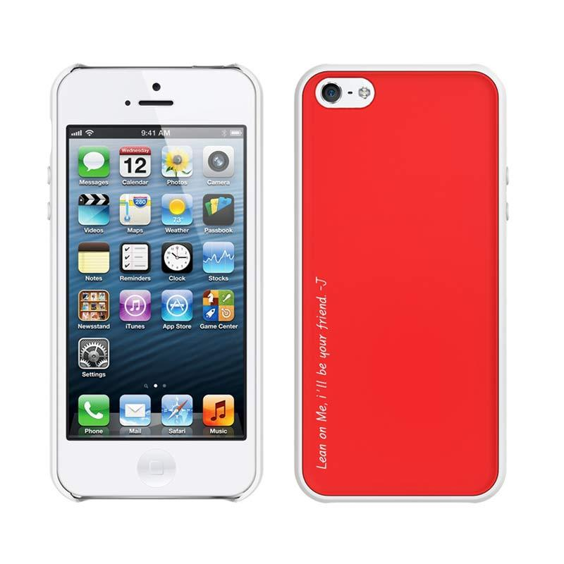 Araree Amy for iPhone 5/5S Poppy Red White