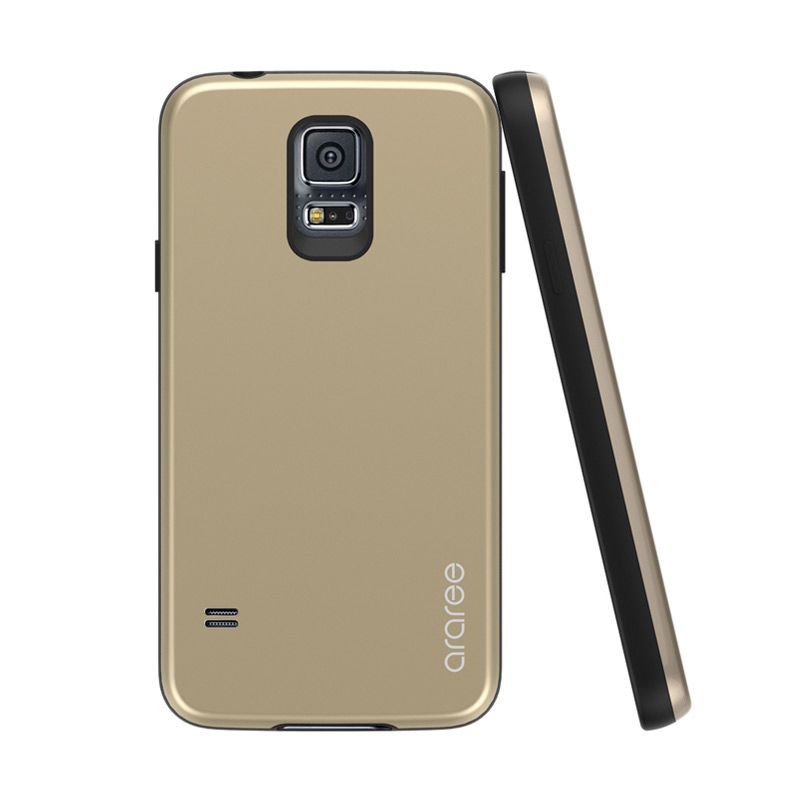 Araree Amy for Samsung Galaxy S5 Gold Black