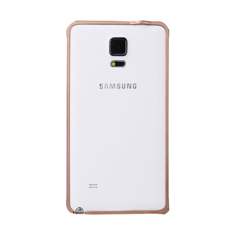 Baseus Arc Bumper Case for Samsung Galaxy Note 4 Rose Gold Casing