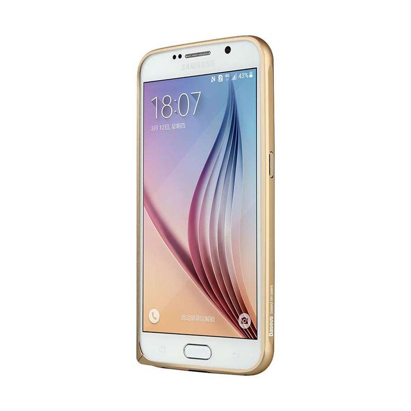 Baseus Beauty Arc Gold Bumper Casing for Samsung Galaxy S6