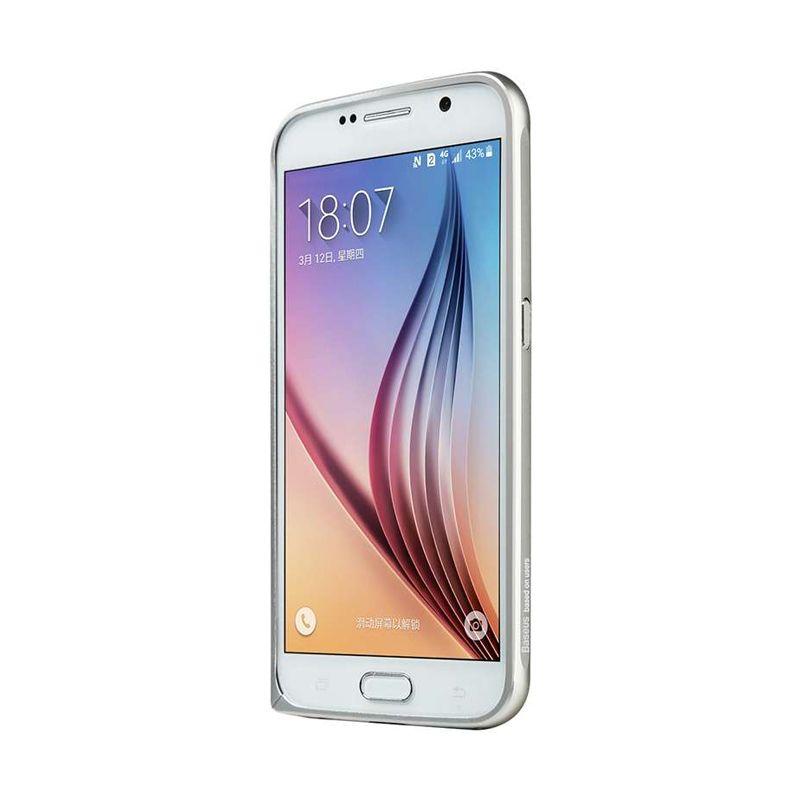 Baseus Beauty Arc Silver Bumper Casing for Samsung Galaxy S6