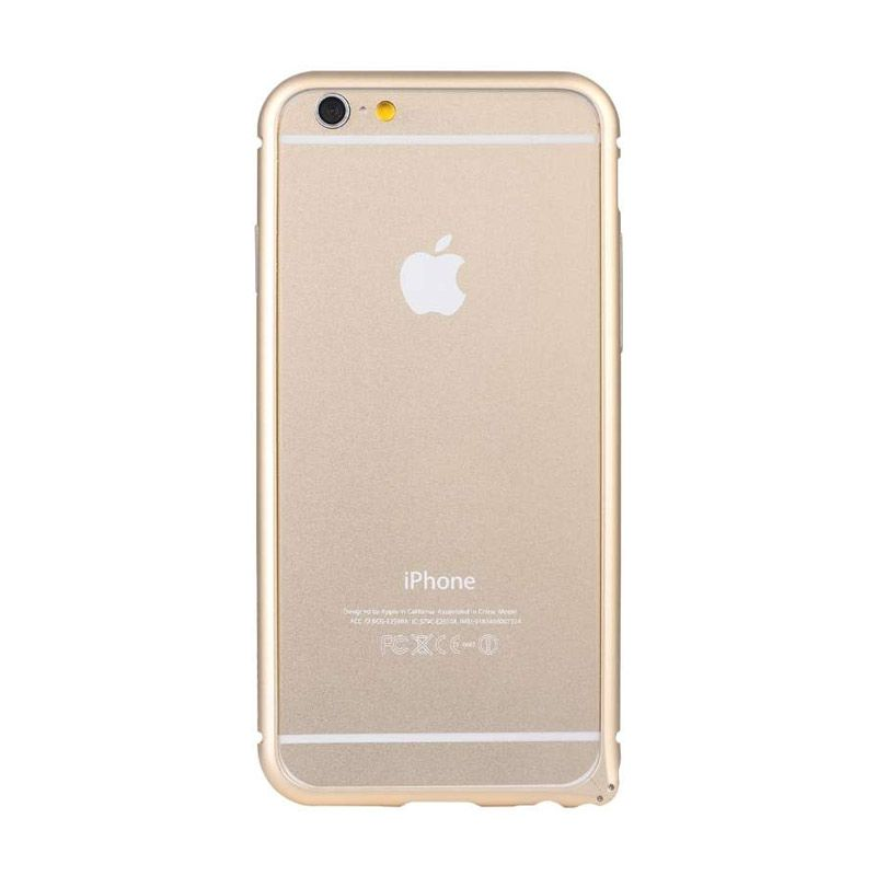 Baseus Beauty Arc Gold Casing with Lens Protective Ring for iPhone 6