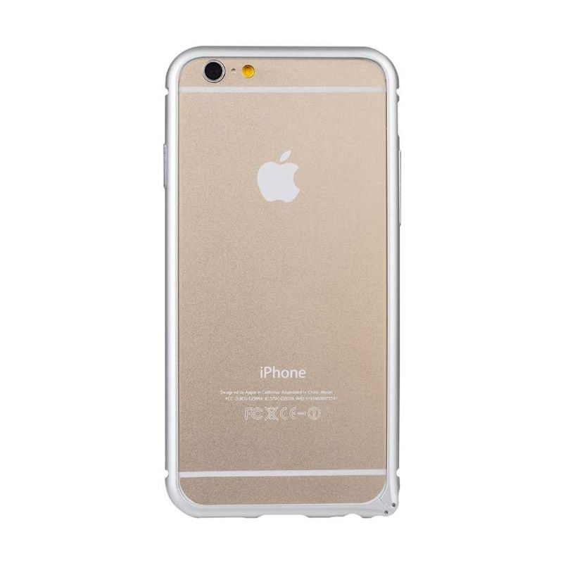 Baseus Beauty Arc Silver Casing with Lens Protective Ring for iPhone 6