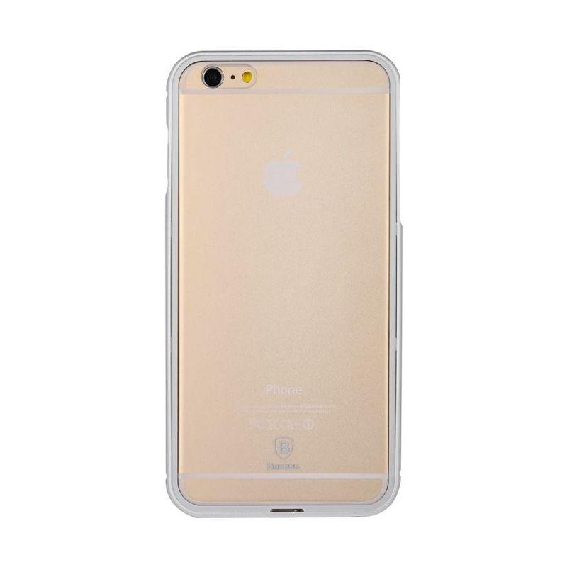 Baseus Crystal Series Case iPhone 6 Plus Silver Casing