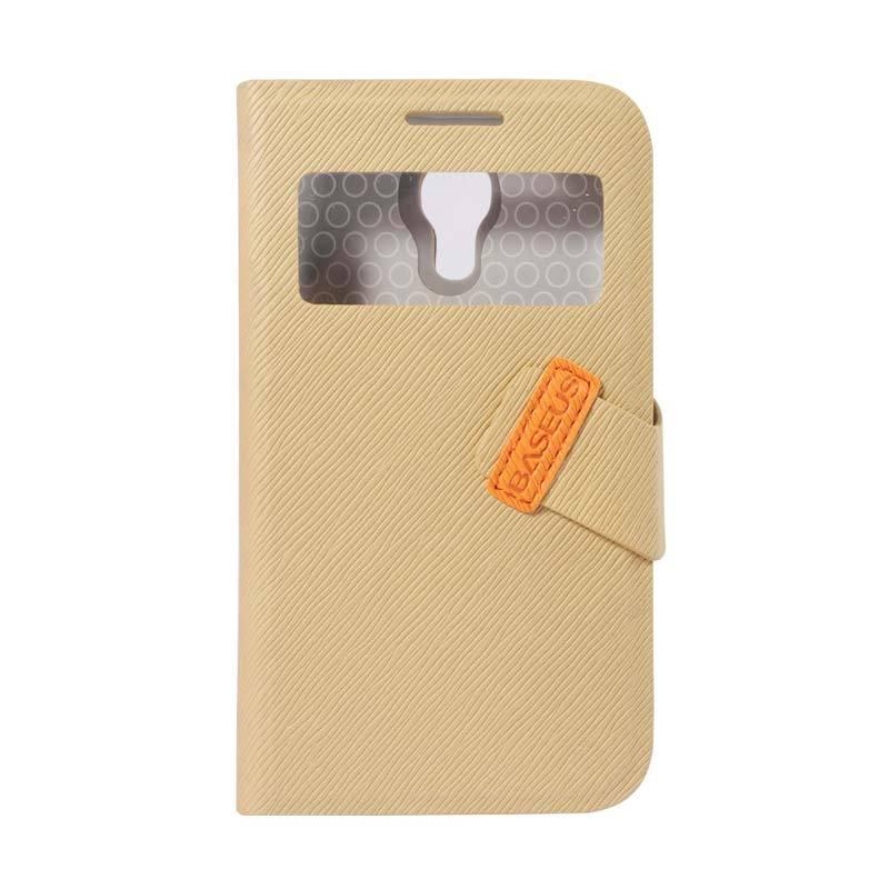 Baseus Faith Leather Case For Galaxy S4 Mini Khaki