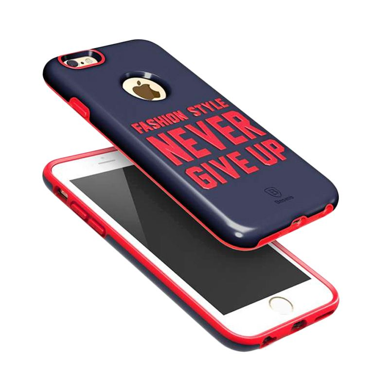 Baseus Fashion Style Series Blue and Cerise Casing for iPhone 6 Plus/6S Plus