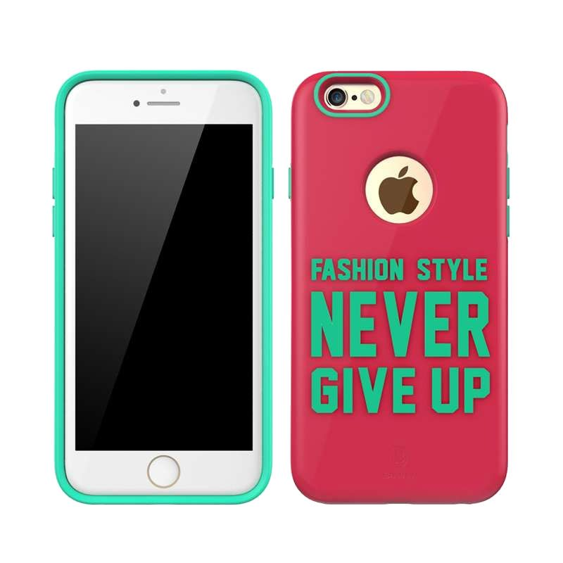 Baseus Fashion Style Series Pink Marine Green Casing for iPhone 6 or 6s