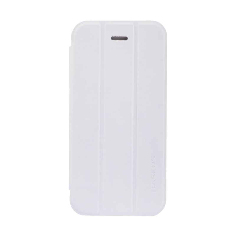 Baseus Folio Stand Case for iPhone 5S White