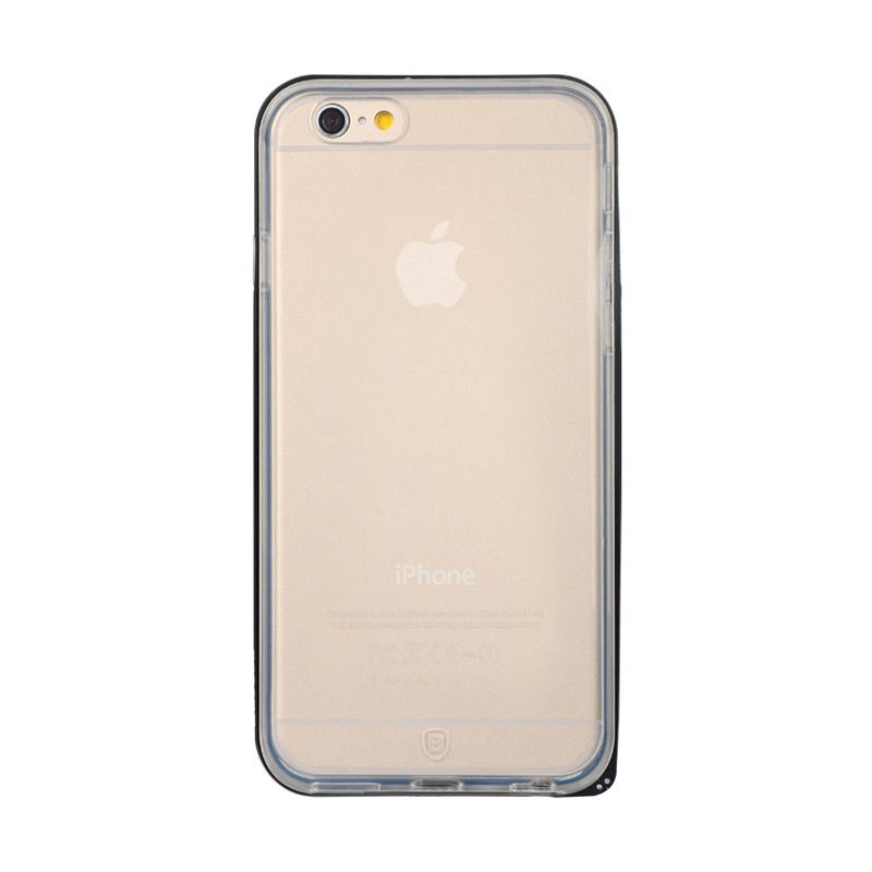 Baseus Fusion Series Metal Bumper with TPU Back case for iPhone 6 Plus Black