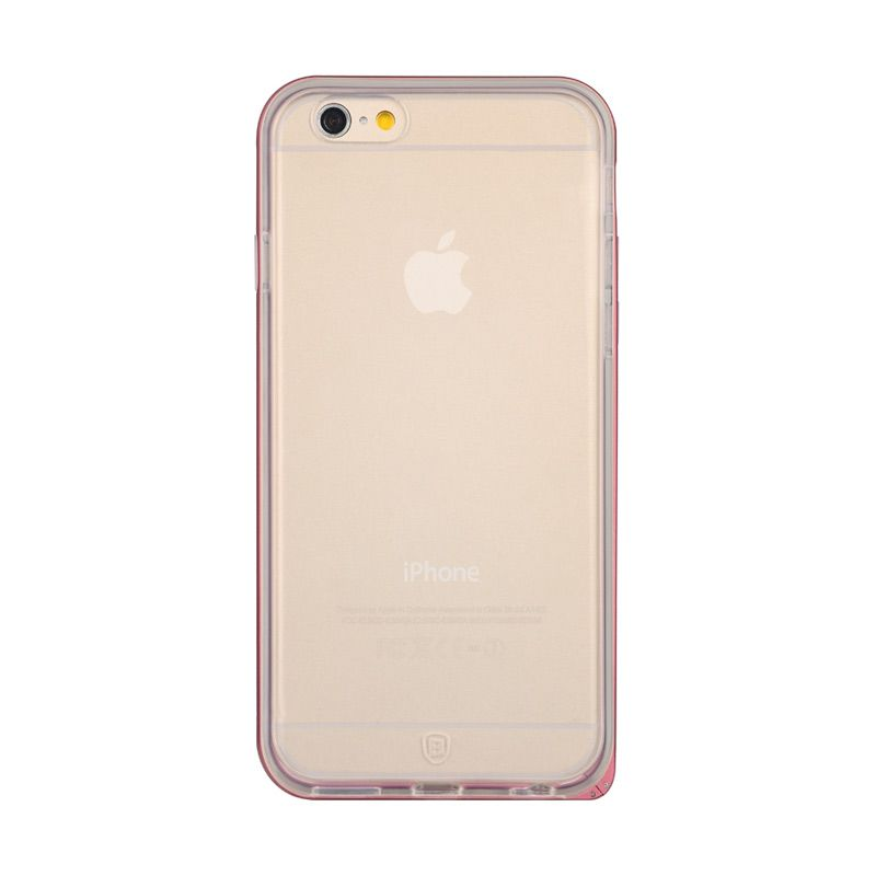 Baseus Fusion Series Metal Bumper with TPU Back Case for iPhone 6 Plus Red
