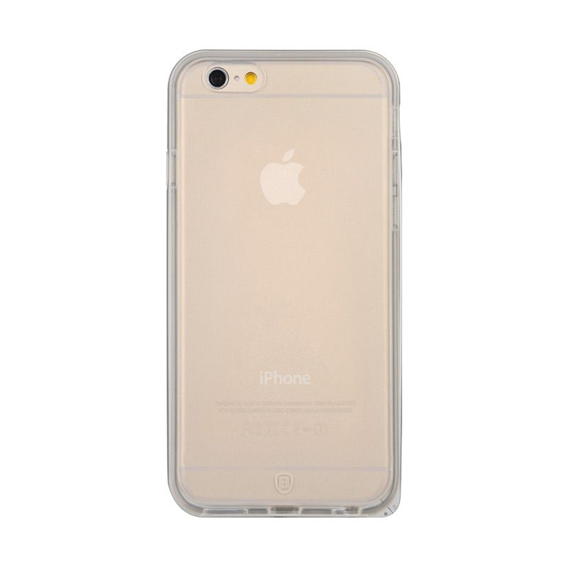 Baseus Fusion Series Metal Bumper with TPU Back case for iPhone 6 Plus Silver