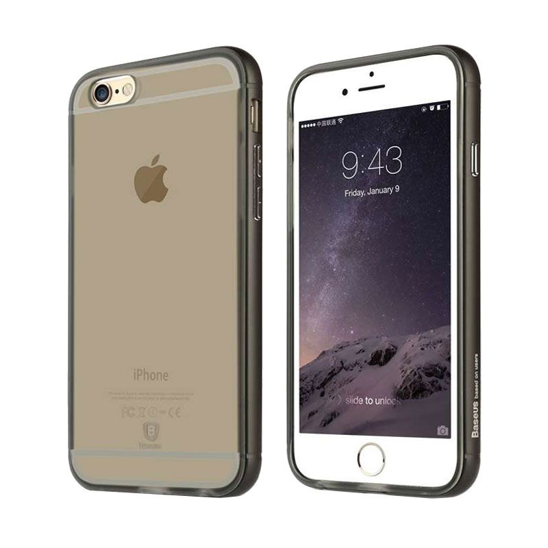 Baseus Golden Series Transparent Black Casing for iPhone 6 or 6s