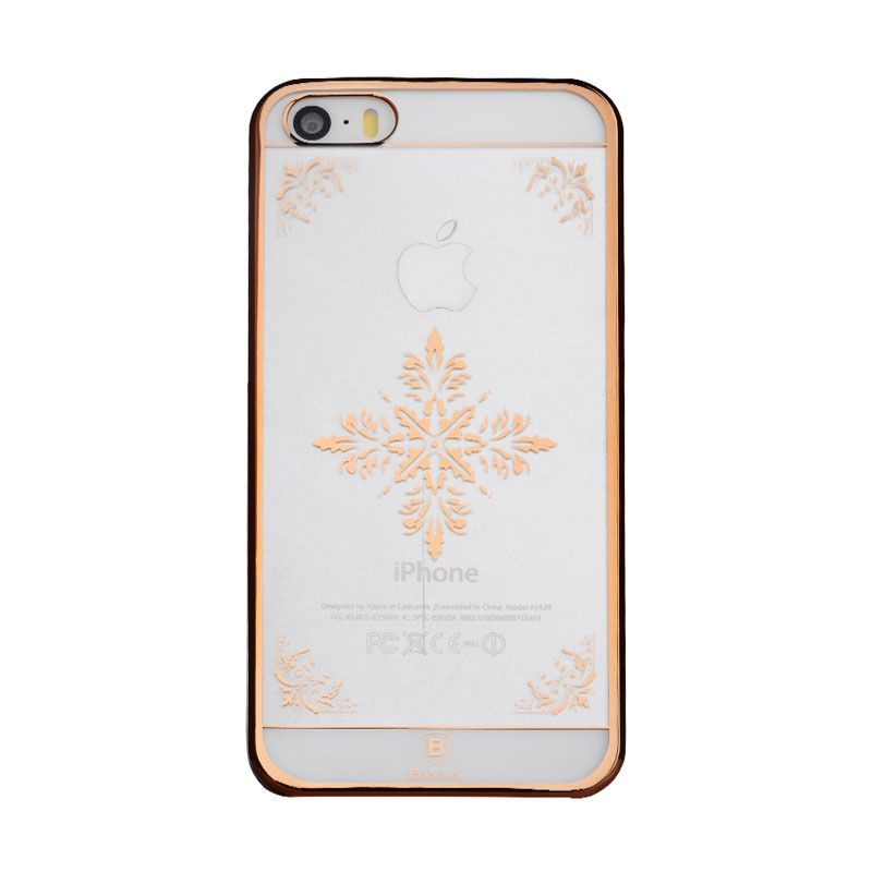 Baseus Royal Case iPhone 5S Snow Pattern Rose Gold