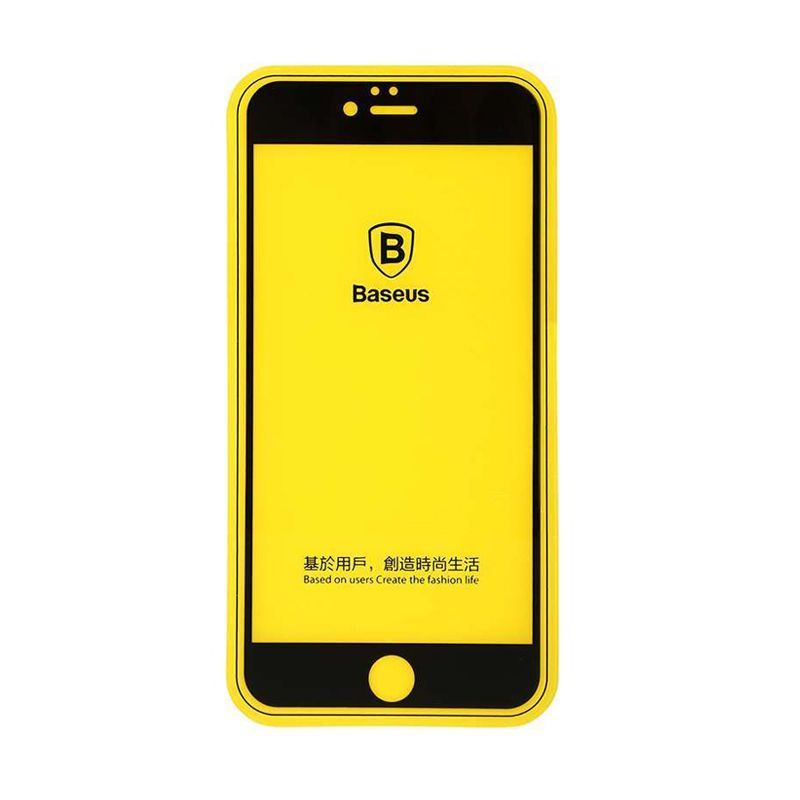 Baseus Silk Full Fitting Flexible Black Tempered Glass Screen Protector for iPhone 6/6S [0.3 mm]