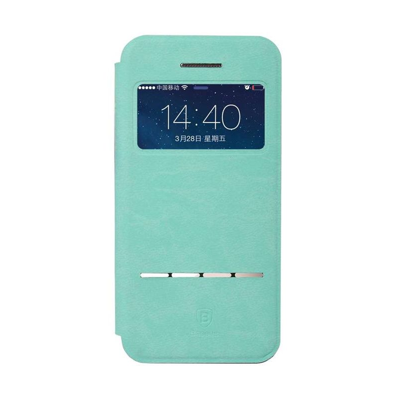 Baseus Terse Blue Leather Casing for iPhone 5 or 5S