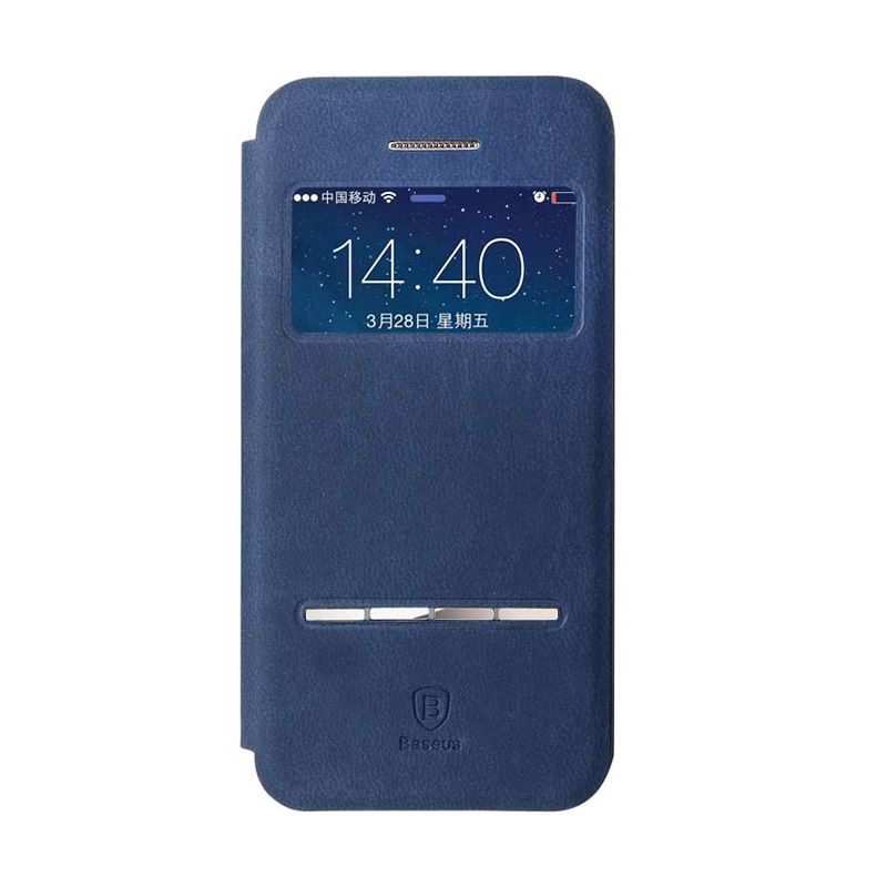 Baseus Terse Leather Dark Blue Casing for iPhone 5 or 5S