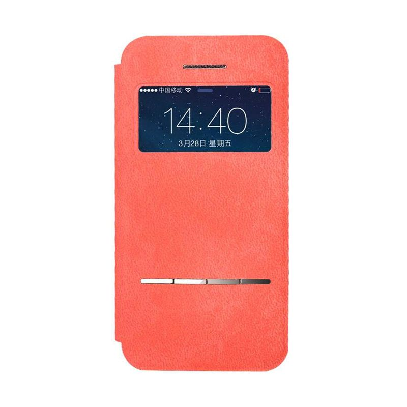 Baseus Terse Leather Red Casing for iPhone 5 or 5S