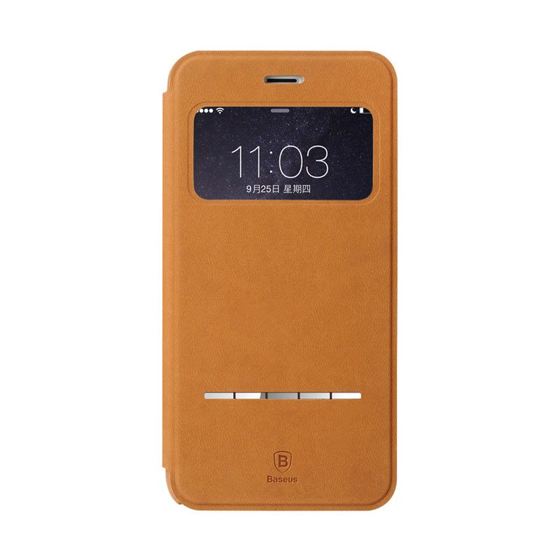 Baseus Terse Leather Case for iPhone 6 Plus Brown