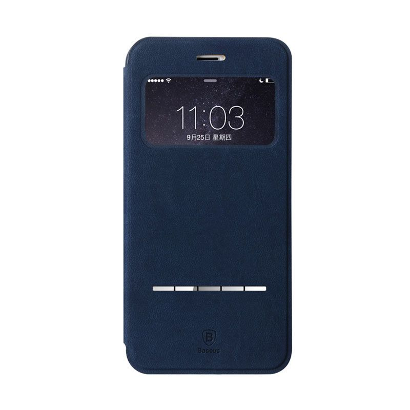 Baseus Terse Leather Case for iPhone 6 Plus Dark Blue