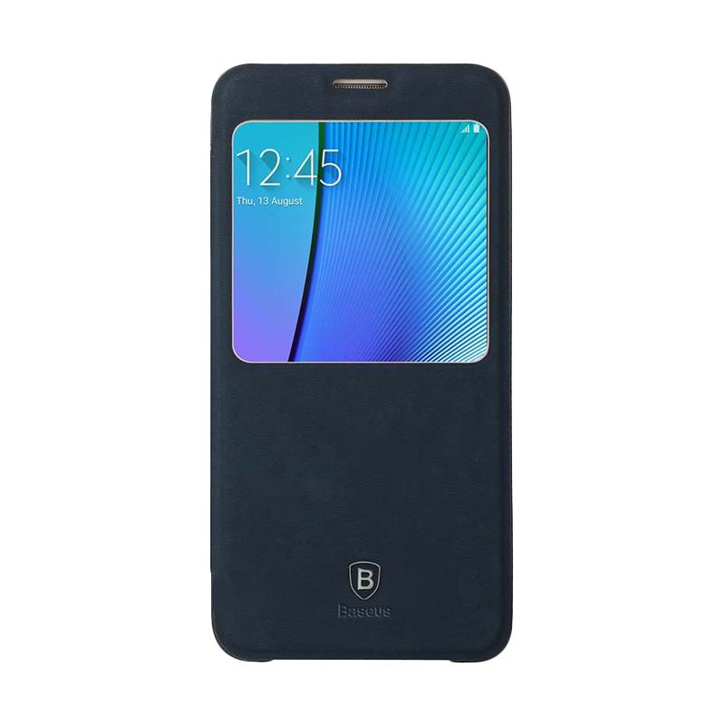 Baseus Terse Leather Navy Blue Casing for Samsung Galaxy Note 6