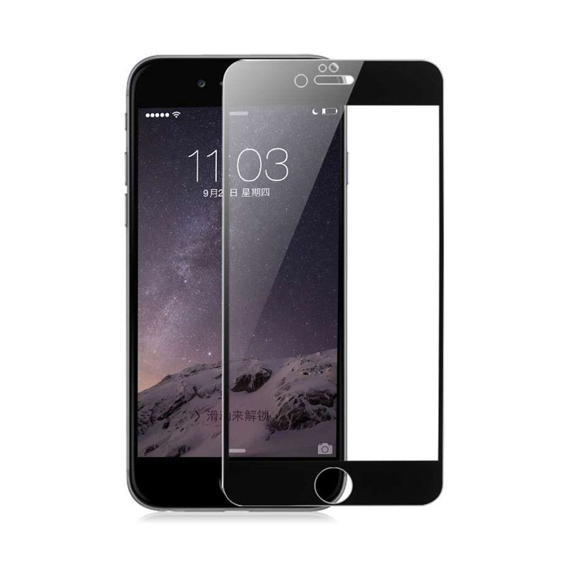 Baseus Ultrathin Tempered Full Silk Printed Black Screen Protector for iPhone 6 Plus [0.3 mm]