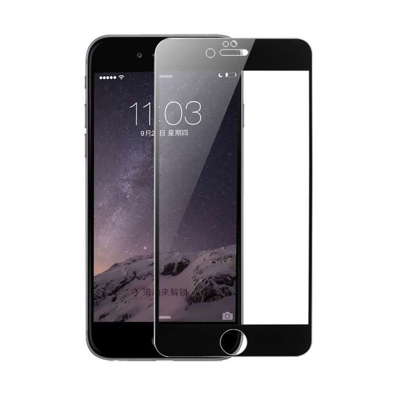 Baseus Ultrathin Tempered Full Silk Printed Black Screen Protector for iPhone 6 [0.3mm]