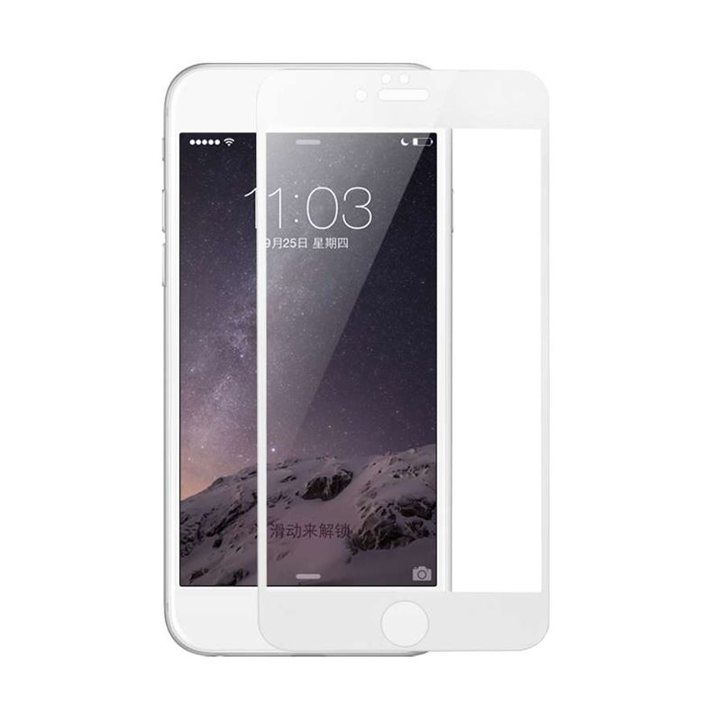 Baseus Ultrathin Tempered Full Silk Printed White Screen Protector for iPhone 6 Plus [0.2mm]