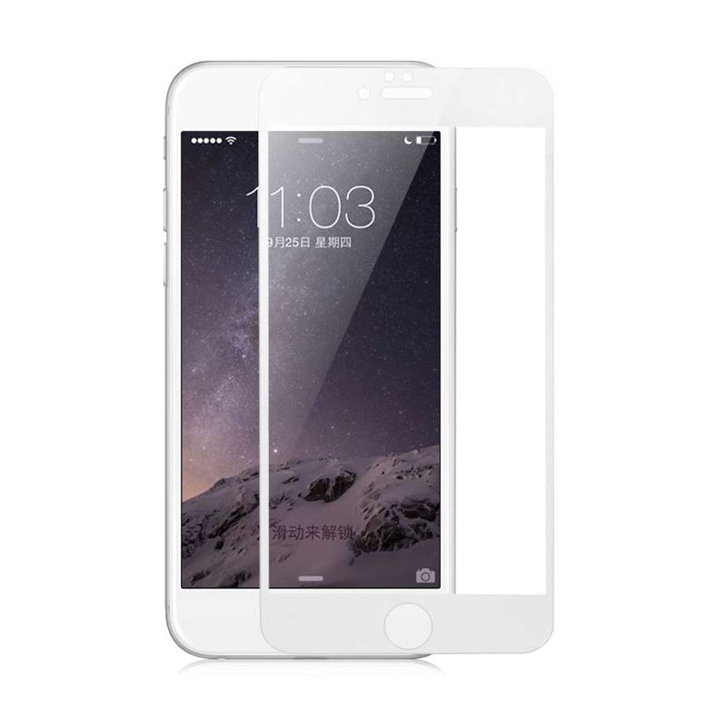Baseus Ultrathin Tempered Full Silk Printed White Screen Protector for iPhone 6 Plus [0.3 mm]
