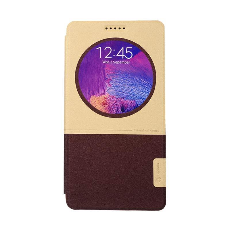 Baseus Unique Leather Case for Samsung Galaxy Note 4 Coffe Beige