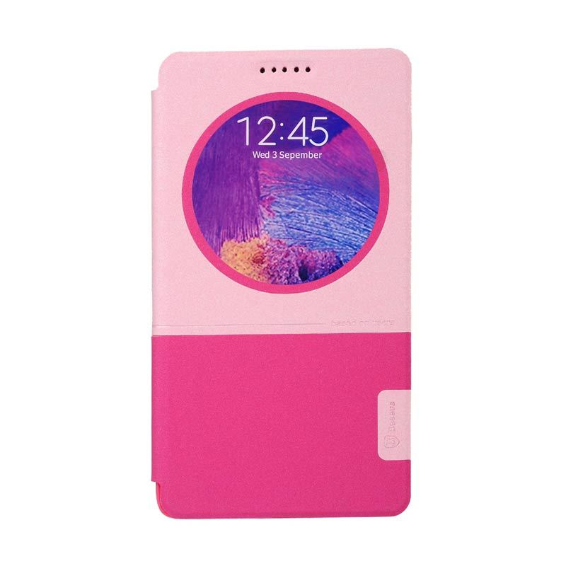 Baseus Unique Leather Case for Samsung Galaxy Note 4 Rose Pink