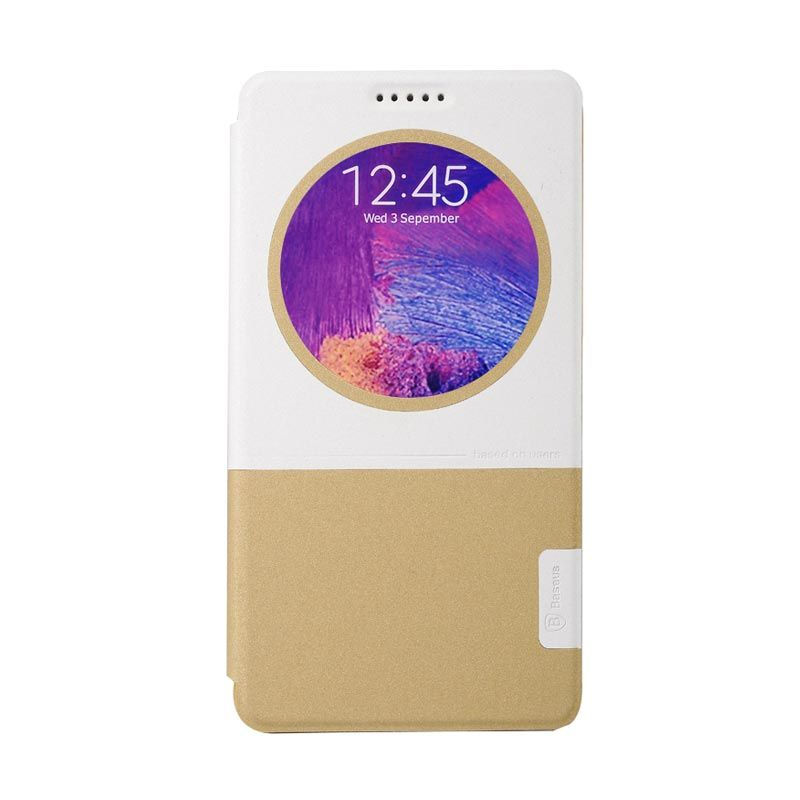 Baseus Unique Leather Case for Samsung Galaxy Note 4 Yellow White