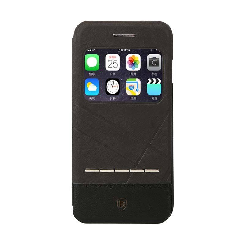 Jual Baseus Unique Leather Case IPhone 6 Plus Black Online