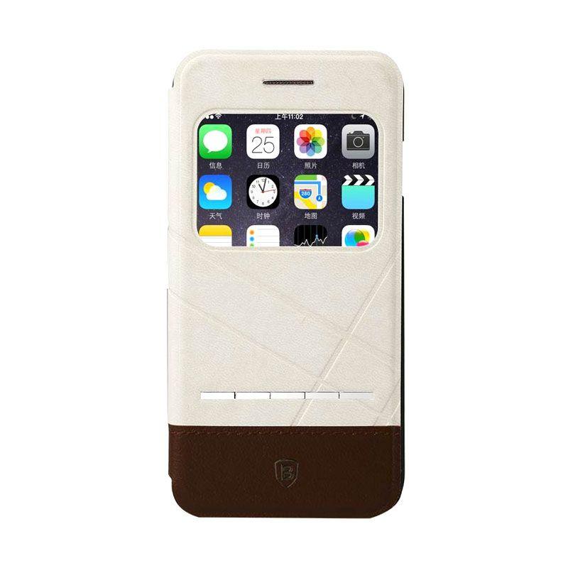 Baseus Unique Leather Case iPhone 6 White