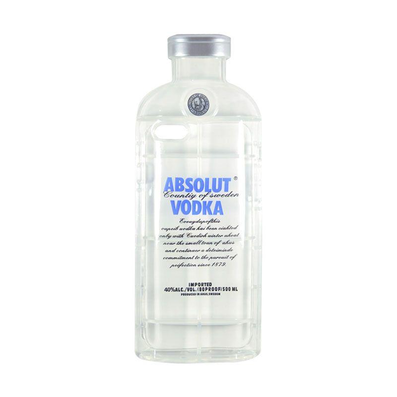 Fashion Absolute Vodka TPU Transparent Case for iPhone 6 Blue