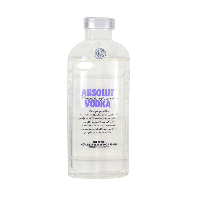 Fashion Absolute Vodka TPU Transparent Case for iPhone 6 Plus Dark Blue