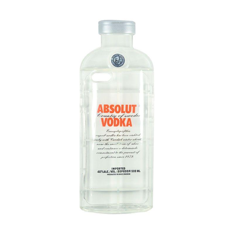 Fashion Absolute Vodka TPU Transparent Case for iPhone 6 Plus Orange