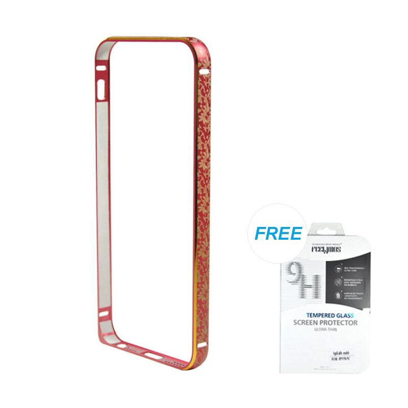 Fashion Bumper with TPU Protection Red iPhone 5/5S Casing