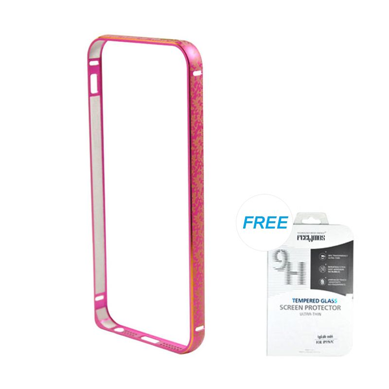 Fashion Bumper with TPU Protection Rose iPhone 5/5S Casing