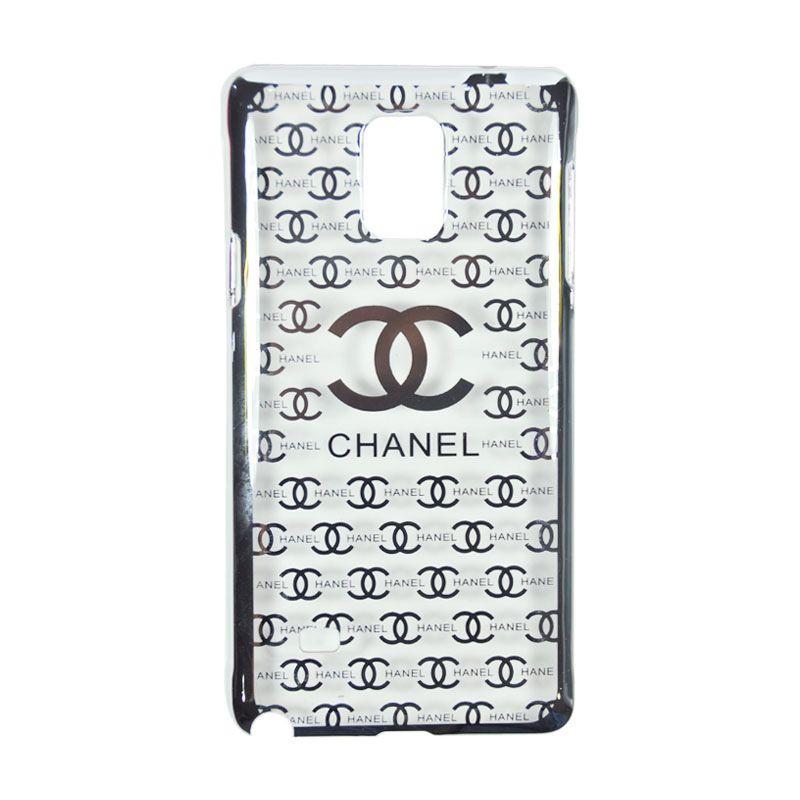 Fashion Chanel Elegant Silver Slim Casing for Samsung Galaxy Note 4