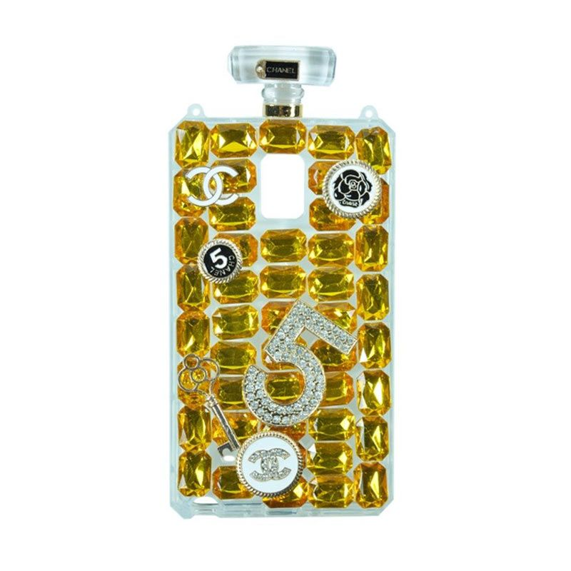 Fashion Chanel Perfume Gold Casing for Samsung Galaxy Note 4