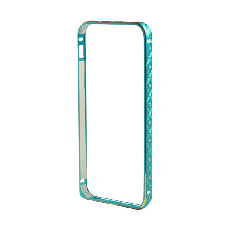 Fashion Diamond Bumper for iPhone 5 dan 5s Biru